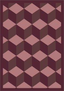 Joy Carpets Kaleidoscope Highrise Whimsical Area Rugs, 92-Inch by 129-Inch by 0.36-Inch, Plum