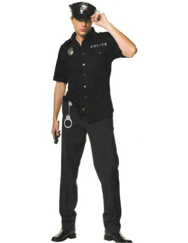 Cop Male Xl Adult Mens Costume