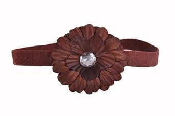 Style Nuvo Baby, Girl Small Flower Daisy Headband - Brown