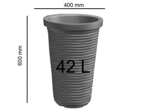 Prix pot de fleurs gris plastique verona 42 l plants for Pot jardin gris