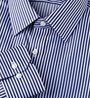 "2"" Longer Ultimate Non-Iron Pure Cotton Slim Fit Striped Shirt"