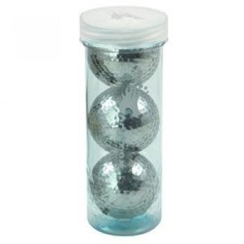 Chromax M1 Brilliant Metallic SILVER Golf Balls - 3 Ball Tube