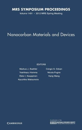 Nanocarbon Materials and Devices: Volume 1451 (MRS Proceedings)
