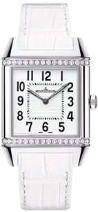 Jaeger LeCoultre White Dial White Leather Ladies Watch Q7068421