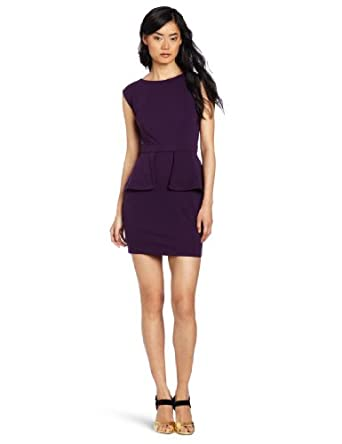 aryn K Women's Tank Dress with Cutout Back, Purple, X-Small