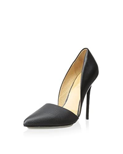 L.A.M.B. Women's Trina D'Orsay Pump  [Black Leather]