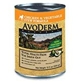 AvoDerm Natural Chicken & Vegetable Stew Recipe Dog Food - 12 12.5-Ounce Cans