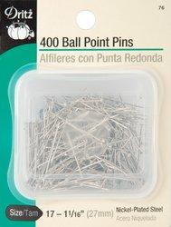 Dritz Ball Point Pins-Size 17 400/Pkg