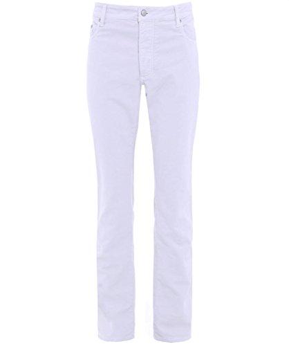 Hackett Uomo Vestibilità Regolare Trinità Pantaloni UK 38R Ecru