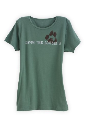 Green 3 Apparel Support Your Local Dog Shelter Made In Usa Organic T-Shirt (S, Grass) front-195900
