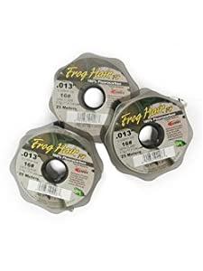 Frog Hair Fluorocarbon 25 Meter Tippet Spools 0x - 7x (5x)