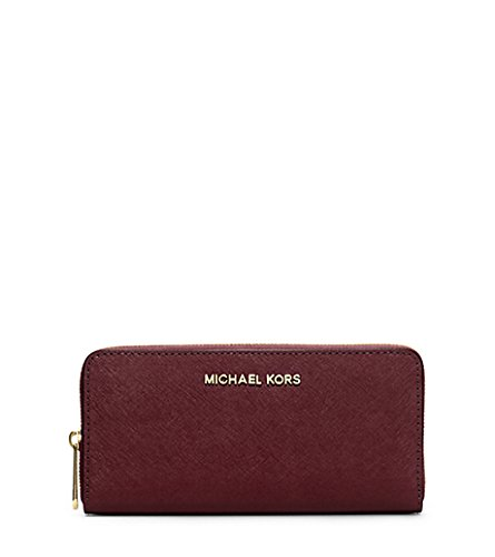 MICHAEL by Michael Kors Jet Set Travel Plum Continental Portafoglio one size Plum