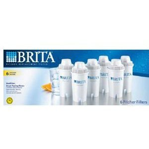 BRITA WATER SYSTEMS 6 filters Brita Pitcher Replacement Filter