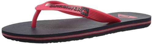Quiksilver Molokai Youth Flip Flop (Toddler/Little Kid/Big Kid), Red/Blue/Red, 13 M US Little Kid