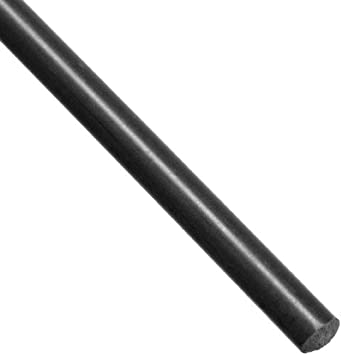 Acetal Copolymer Round Rod, Opaque Black, Standard Tolerance, ASTM D6778