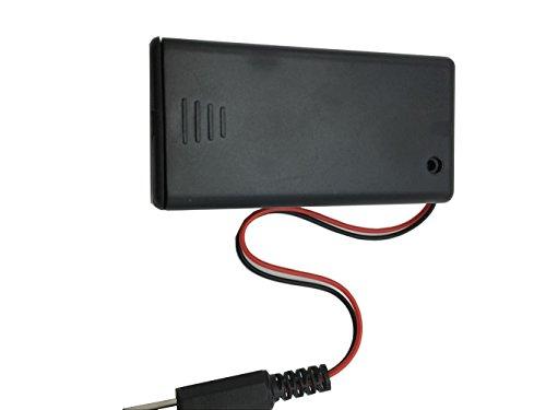 Phantom YoYo DC 2.1 x 5.5mm Male Plug Connector Plastic 9V Battery Holder w Cover (Dc Plug Cover compare prices)
