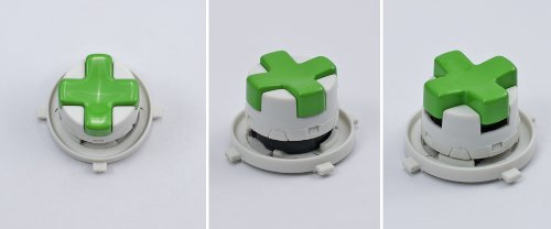 Green/White Transforming D-Pad For Xbox 360 Controller (Rotating Dpad)