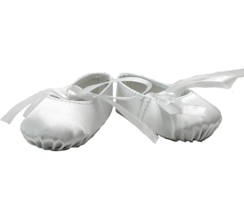 BUYS BY BELLA White Hard Toe Ballerina Slippers for 18 Inch Dolls Like Americ...