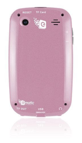 Ematic EM604VIDP 3-Inch Touch Screen 4 GB MP3 Video Player with Built-In 5MP Digital Camera (Pink)