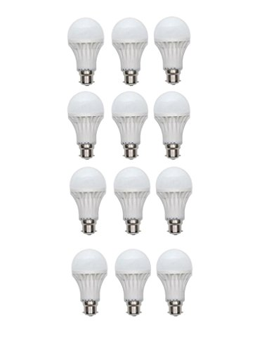 9W LED Bulb B22 White (pack of 12)