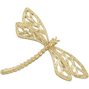 14k Yellow-Gold Dragonfly Brooch