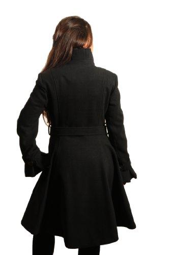 de la cr me manteau femme laine cintr puis vas. Black Bedroom Furniture Sets. Home Design Ideas