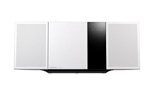 Panasonic SC-HC397EG-W Design Micro HiFi System (Wandmontagefähig, LincsD-Amp Digitalverstärker, Smartphone-Kopplung, NFC, Bluetooth, 40 Watt, USB, UKW und Digitalradio, Nano Bambus Lautsprecher) weiß
