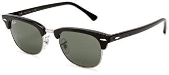 Ray-Ban RB2156 New Clubmaster Sunglasses 49 mm, Non-Polarized, Black/G-15