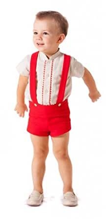 Amazon.com: Alves Baby-Boys' 2 Piece Outfit 12 Months Red/Beige