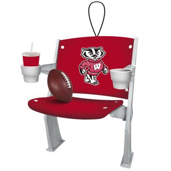Wisconsin Badgers Stadium Chair Ornament