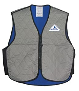 LARGE- SILVER- Techniche Evaporative Cooling Sport Vest - V-Neck