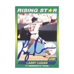 Larry Casian Minnesota Twins 1992 Score Rising Star Autographed Hand Signed Trading...