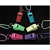 Neon Whistle Necklaces – 12 per unit