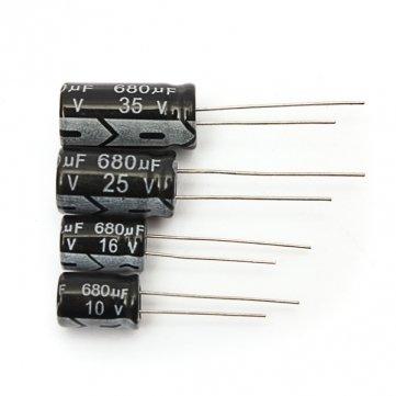 Pakhuis 1Pcs 10V 16V 25V 35V 680UF Radial Elektrolytkondensator