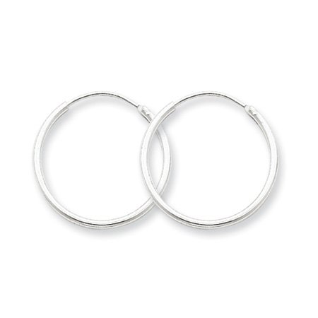 1.3mm, Silver, Endless Hoop Earrings - 19mm (3/4