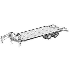 Trailer Blueprints - Flat-Deck Tandem Trailer