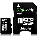 Digi-Chip HIGH SPEED 16GB UHS-1 CLASS 10 Micro-SD Memory Card For Blackberry Curve 9320, 9220, 9350, 9360, 9380, 3G, 9300, 8520, 8900, 9300 , 9350, 9360, 9380, 8900 And 8520 Mobile Phone