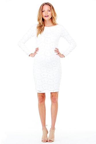 Ingrid & Isabel Boatneck Stretch Lace Maternity Dress - Winter White - Large front-721516