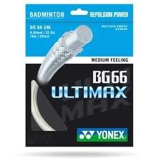Yonex BG 66 Ultimaxx String, Metallic White