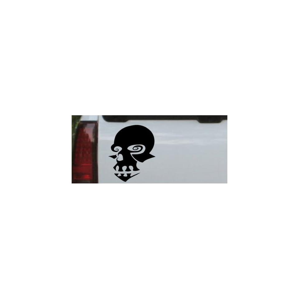 Mask Skulls Car Window Wall Laptop Decal Sticker    Black 16in X 13