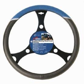 Sumex 2505034 Carplus - Copri Volante Carbonio Terylene, Blu
