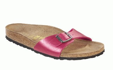 Cheap Birkenstock slippers Madrid in size 35.0 W EU made of Birko-Flor in Graceful Rose Red with a regular insole (B005OI23U8)