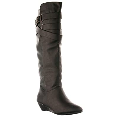 Madden Girl by Steve Madden Women's 'Zing' Knee High Boots, Black, Size 6.5