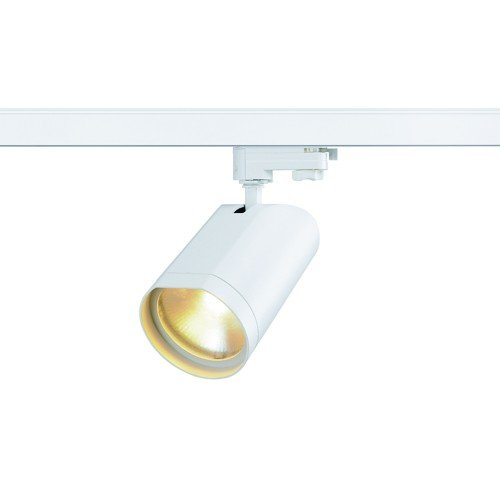 SLV LED 3-Phasen Strahler Bilas Spot Single, 15W, COB, 2700K, 25 Grad, inklusiv Adapter, weiß 152991