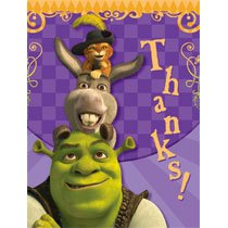 Shrek Thank You Notes