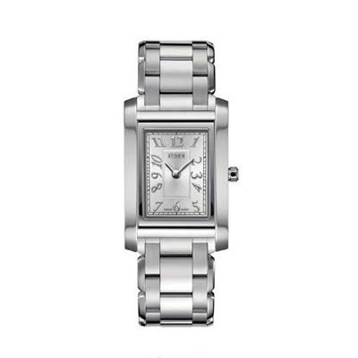 Fendi Loop Medium Square Silver Dial and Bracelet Quartz Watch - F775360