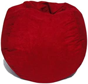 Microsuede Bean Bag Chair In Lipstick Red Kitchen Dining