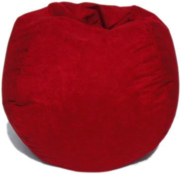 Microsuede Bean Bag Chair In Lipstick Red