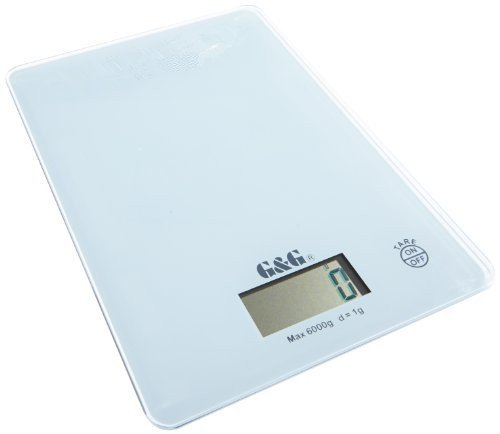 G&G Balance de précision numérique 1 g / 6000 g Noir