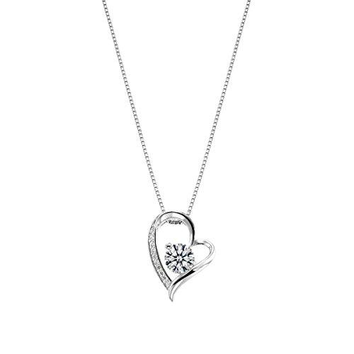 [ジュエリーキャッスル] Jewelry Castle ネックレス ハート&キューピッド(H&C)0.65c オープンハート ネックレス (プラチナ)